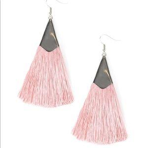 Jewelry - In Full PLUME - Pink Blush Tassel Fringe Earrings
